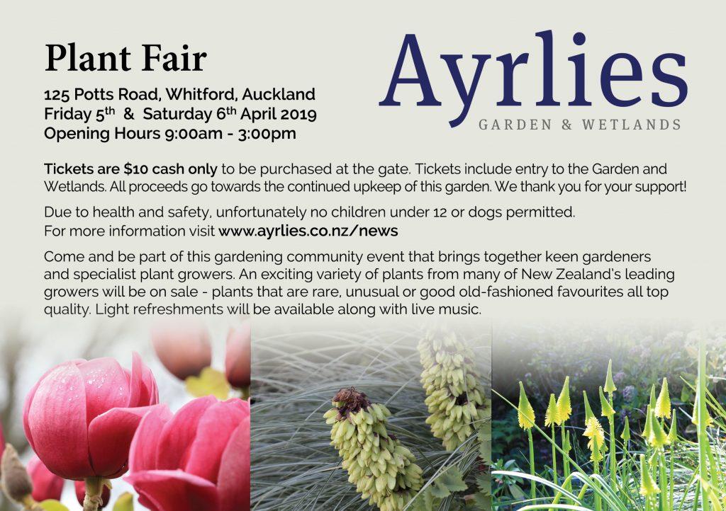 Ayrlies Plant Fair Flyer